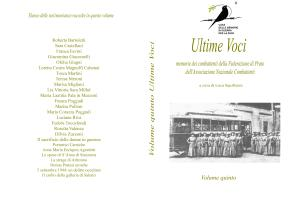 Ultime Voci Volume Quinto